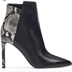 NWT Snake and leather booties 10